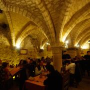 Beautiful vaulted cellars of the Middle Ages in Senlis Oise Northern France