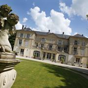 The gradens of Château de Valgneceuse Senlis Oise Northern France